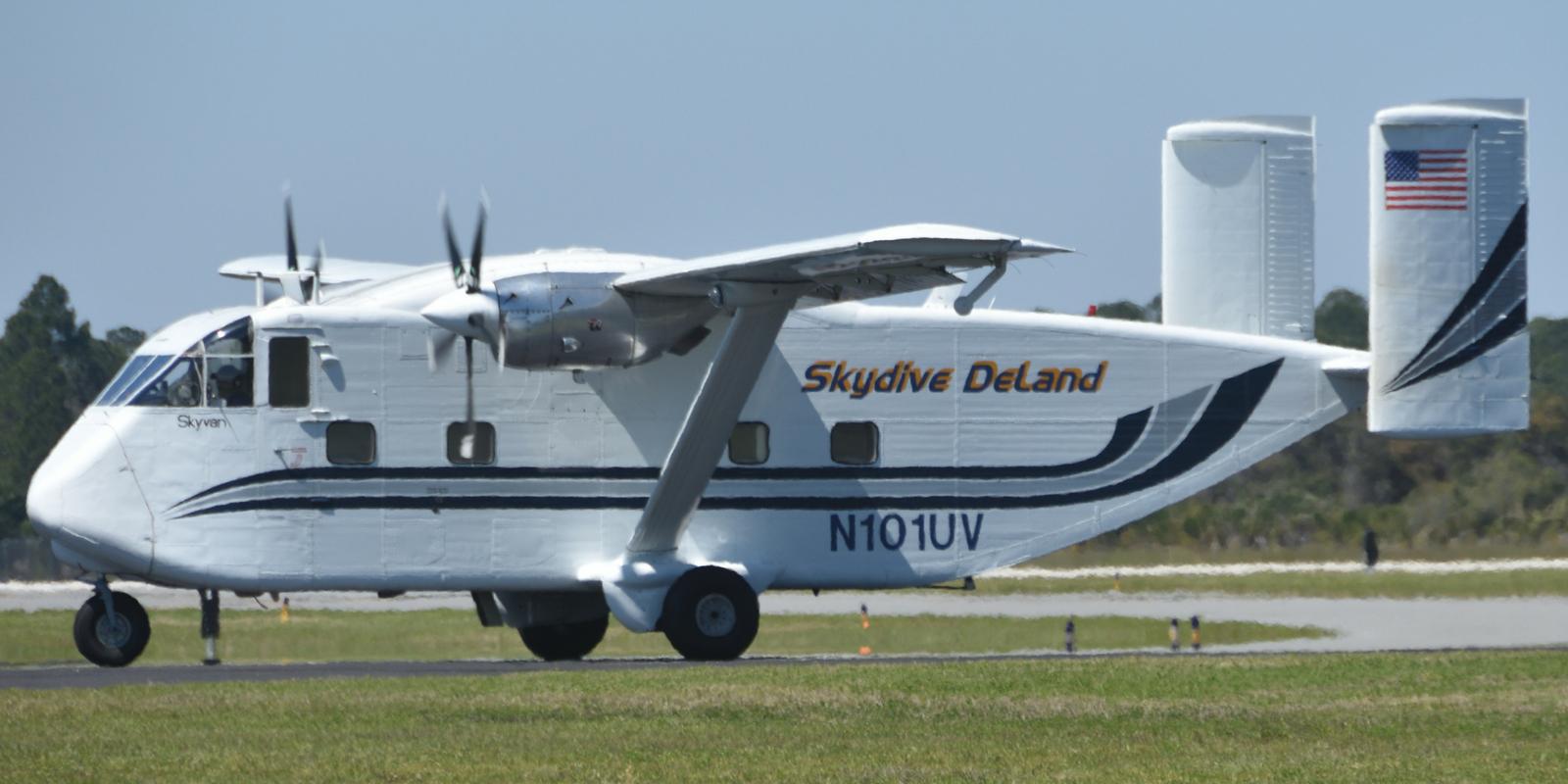 Skydive DeLand's Skyvan SC7 aircraft