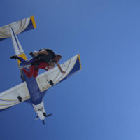 first time skydiving exit shot