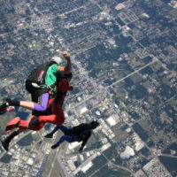 videographer captures first time tandem student in freefall
